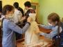 Lāču pamatskolā top skulptūras