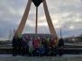 Naujenes pamatskolas skolēni Ziemassvētku brīnumu meklēja arī Rīgā
