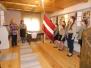 Vaboles gaidu svinīgais solījums Skrindu muzejā