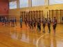 Vidusskolu jaunietes sacenšas volejbolā
